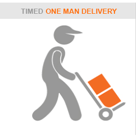 one man delivery logo