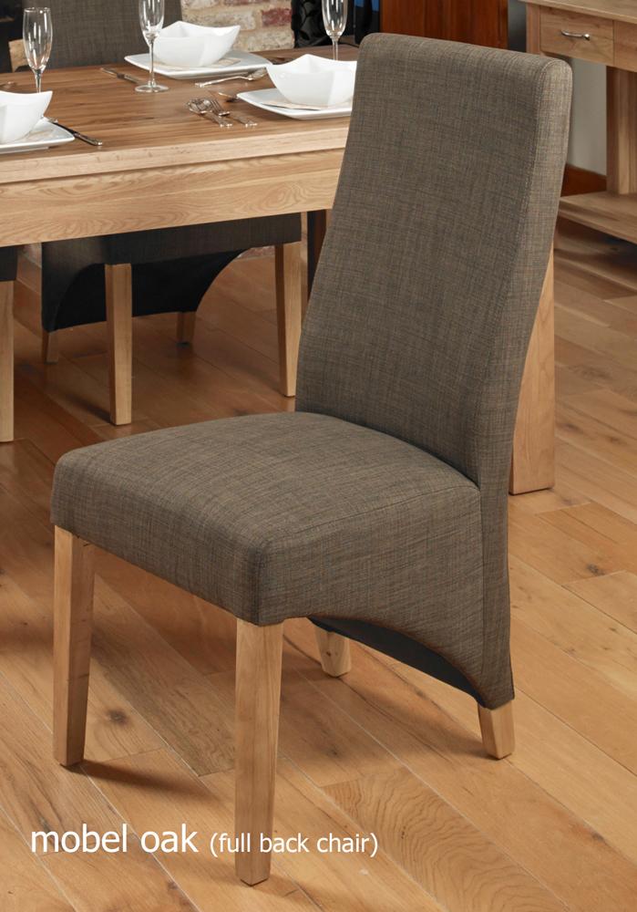 oak full back upholstered dining chair hazelnut pack of two