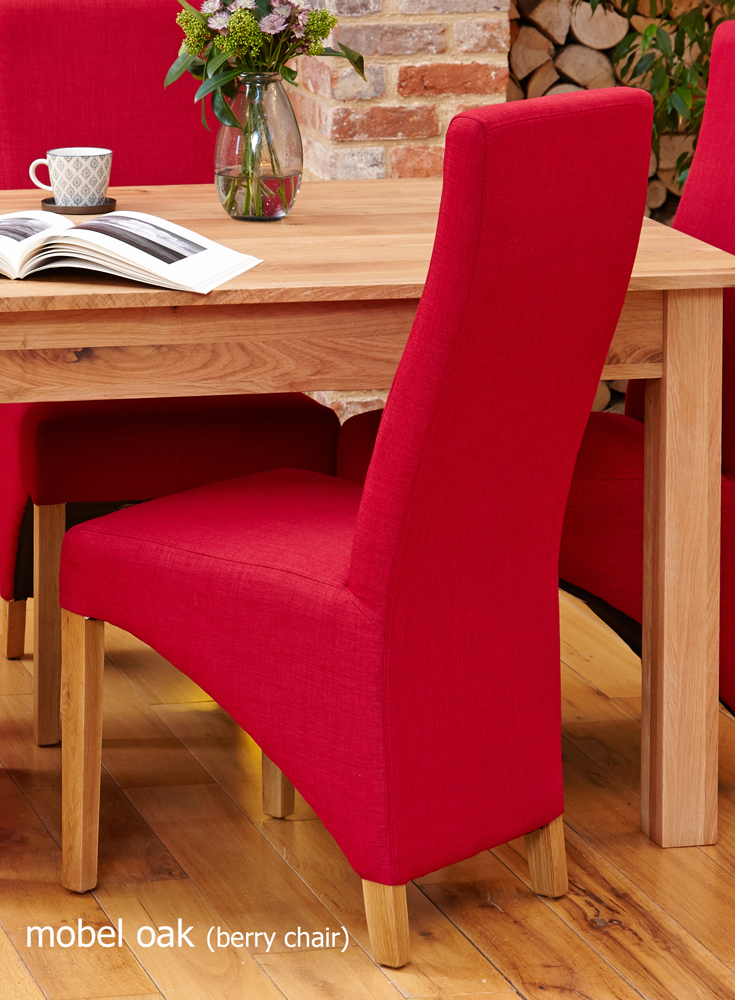 oak full back upholstered dining chair berry pack of two