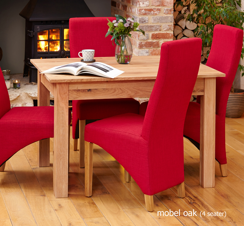 mobel oak dining table 4 seater